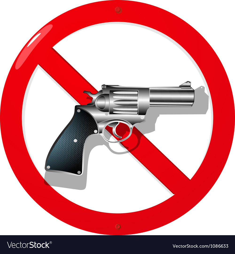 No guns vector | Price: 1 Credit (USD $1)