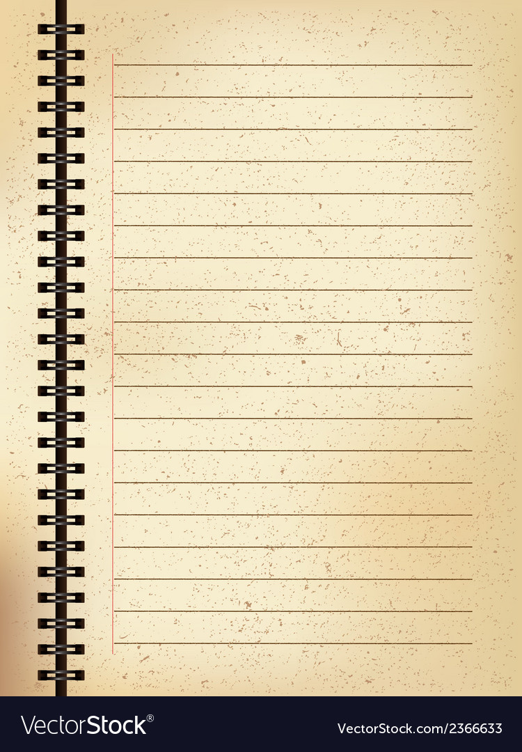 Old paper booklet vector | Price: 1 Credit (USD $1)