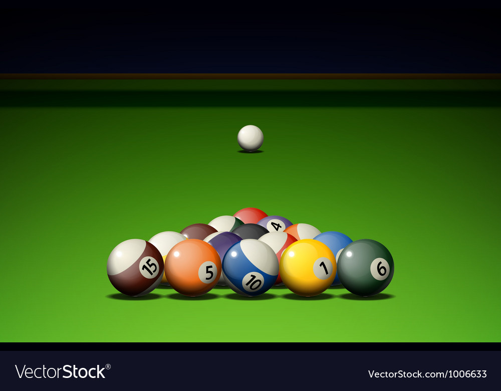 Pool game vector | Price: 1 Credit (USD $1)