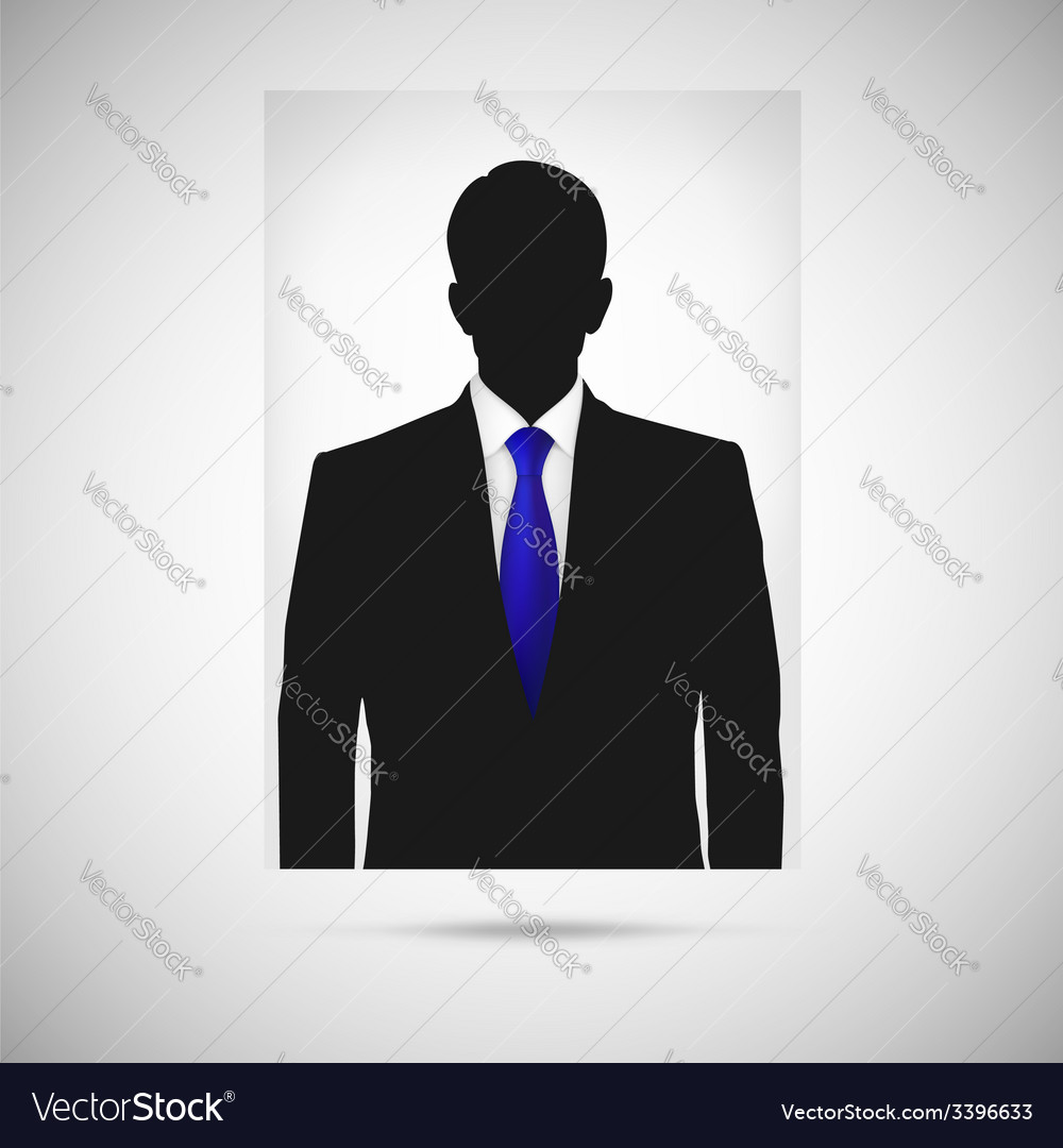 Profile picture whith blue tie unknown person vector | Price: 1 Credit (USD $1)