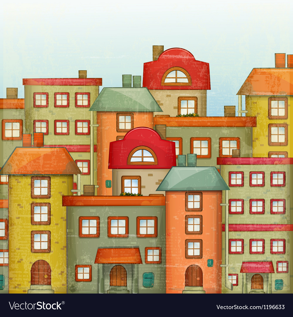 Town background vector | Price: 1 Credit (USD $1)