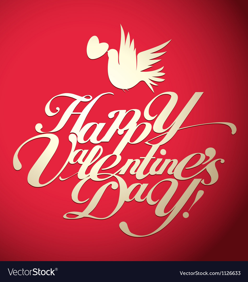 Valentines day lettering vector | Price: 1 Credit (USD $1)