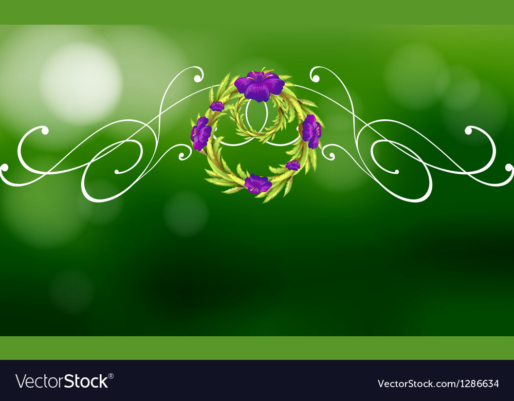 A green and violet border design vector | Price: 1 Credit (USD $1)