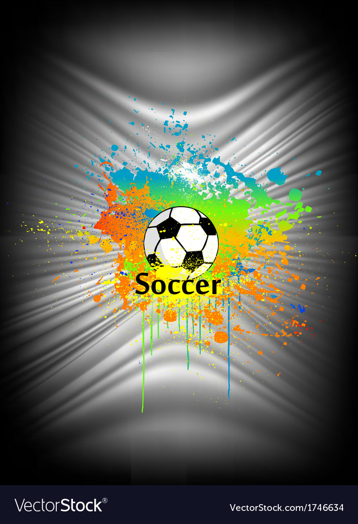 Abstract background with soccer ball vector | Price: 1 Credit (USD $1)