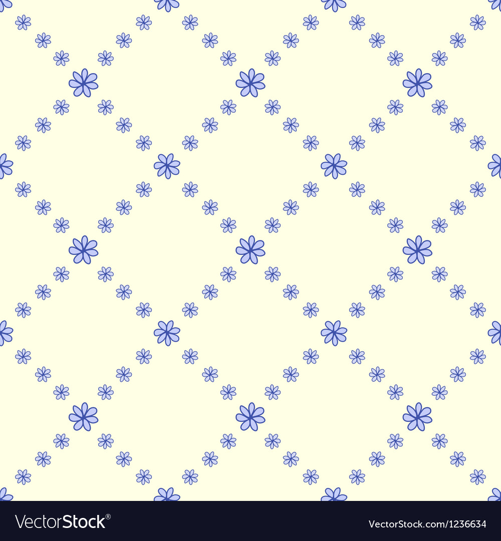 Blue flowers seamless background vector | Price: 1 Credit (USD $1)
