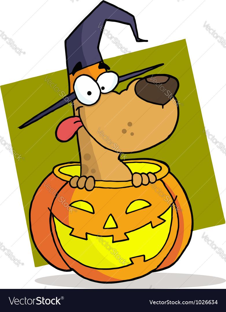 Cartoon character halloween dog vector | Price: 1 Credit (USD $1)