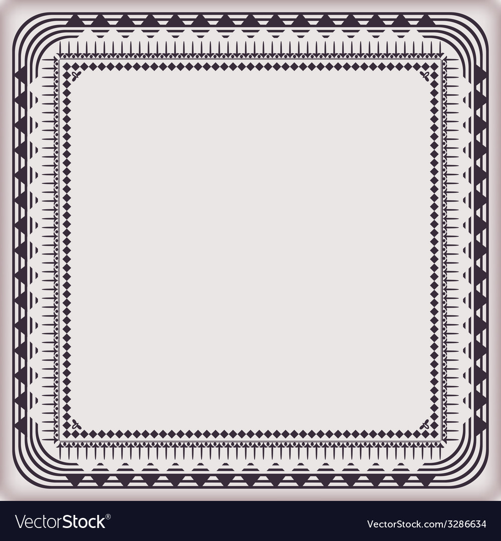 Frame vintage pattern vector | Price: 1 Credit (USD $1)