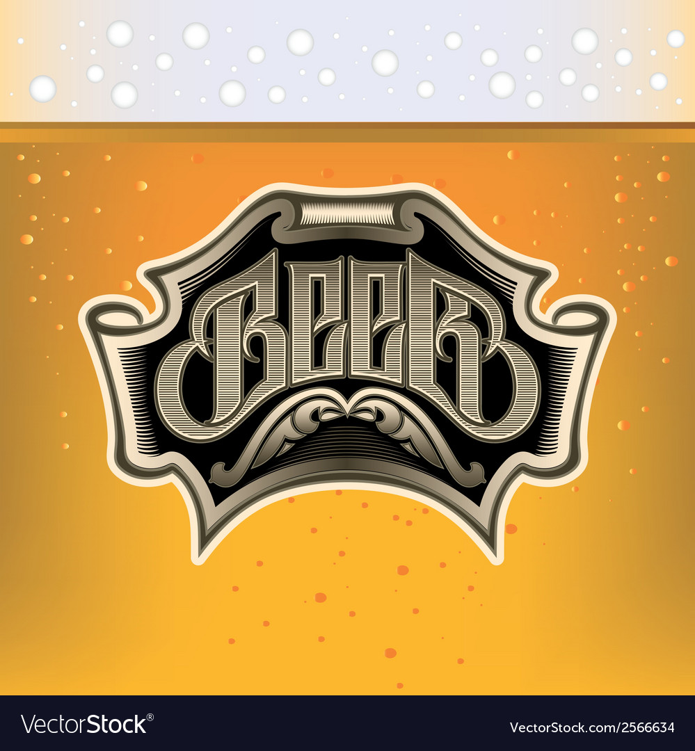 Glass of beer on background for the menu vector | Price: 1 Credit (USD $1)