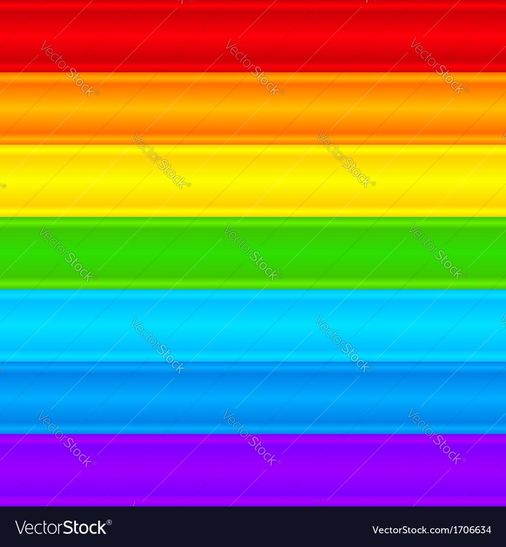 Horizontal rainbow plastic stripes abstract vector | Price: 1 Credit (USD $1)