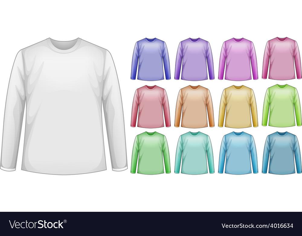 Long sleeves shirts vector | Price: 1 Credit (USD $1)