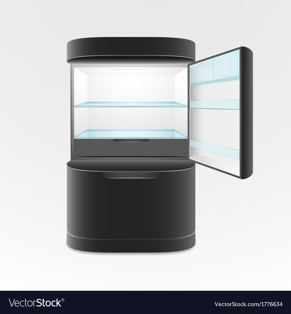 Modern two door black refrigerator vector   Price: 1 Credit (USD $1)