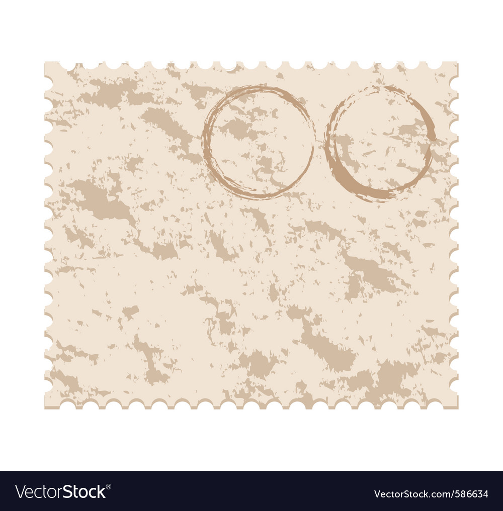 Old blank grunge post stamp vector | Price: 1 Credit (USD $1)