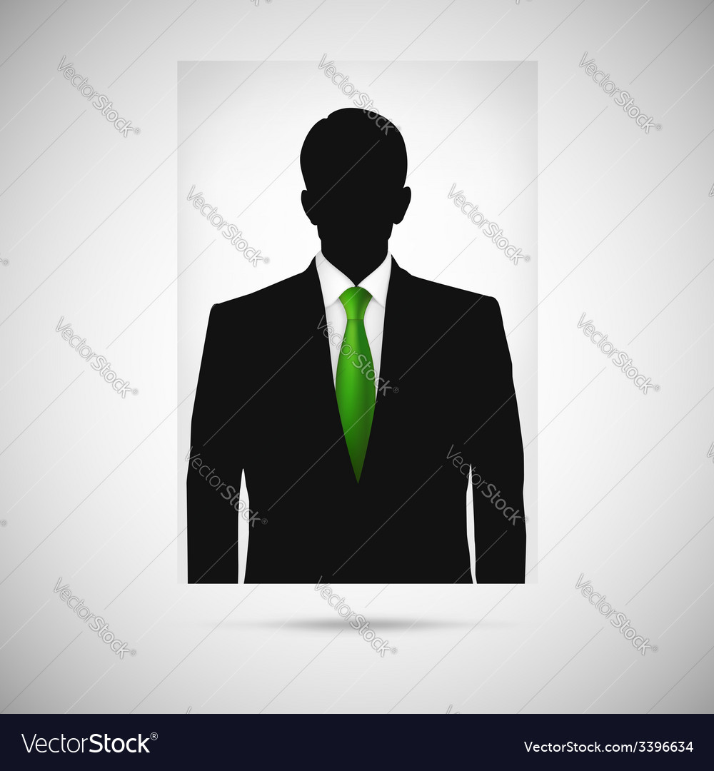 Profile picture whith green tie unknown person vector | Price: 1 Credit (USD $1)
