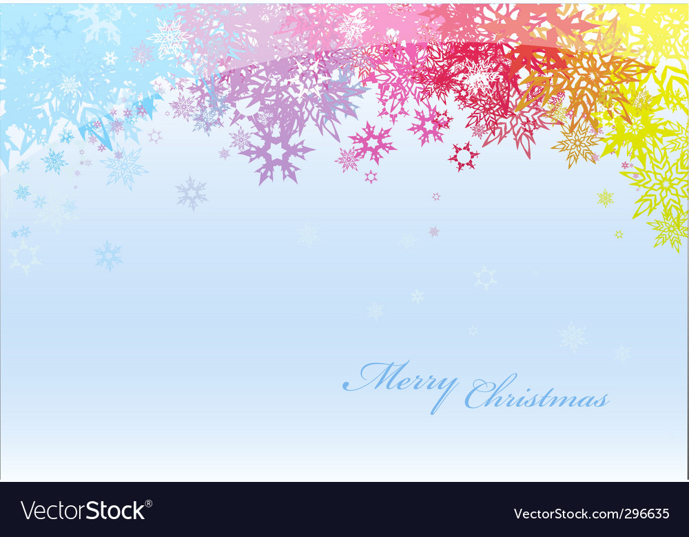 Abstract background with colored snowflakes vector | Price: 1 Credit (USD $1)
