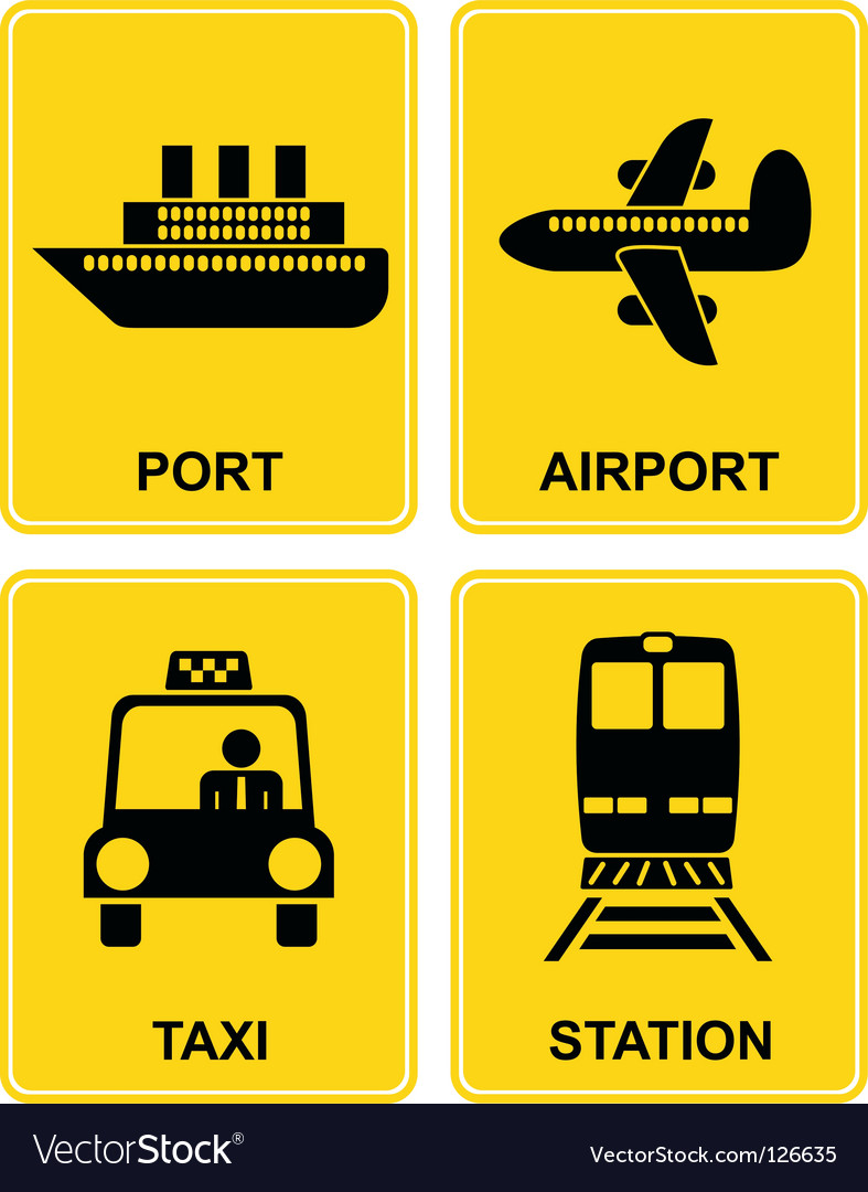 Airport station taxi port vector | Price: 1 Credit (USD $1)