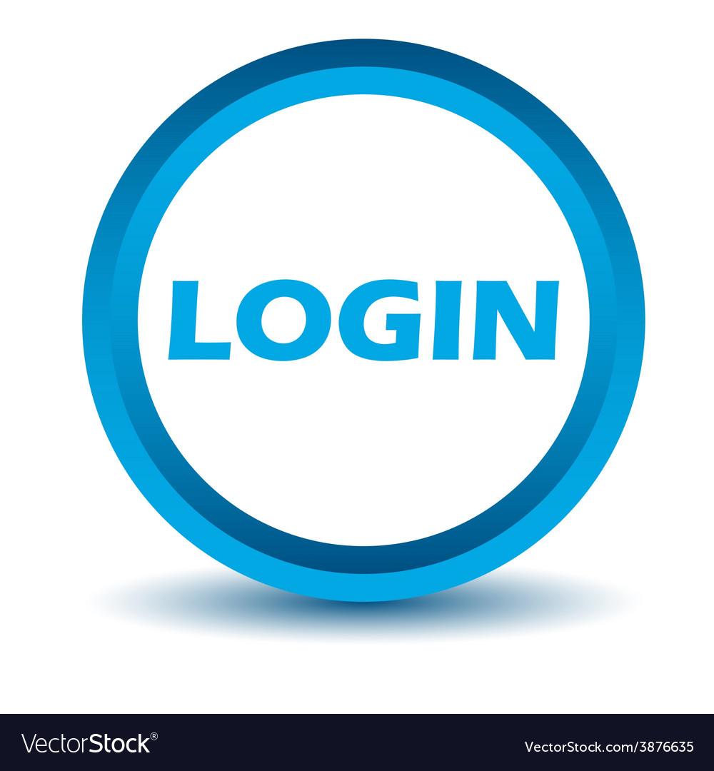 Blue login icon vector | Price: 1 Credit (USD $1)