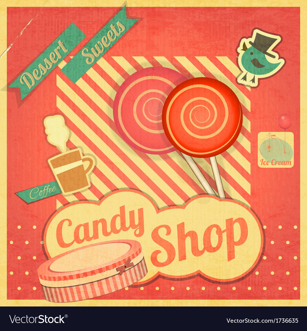 Candy sweet shop vector | Price: 1 Credit (USD $1)