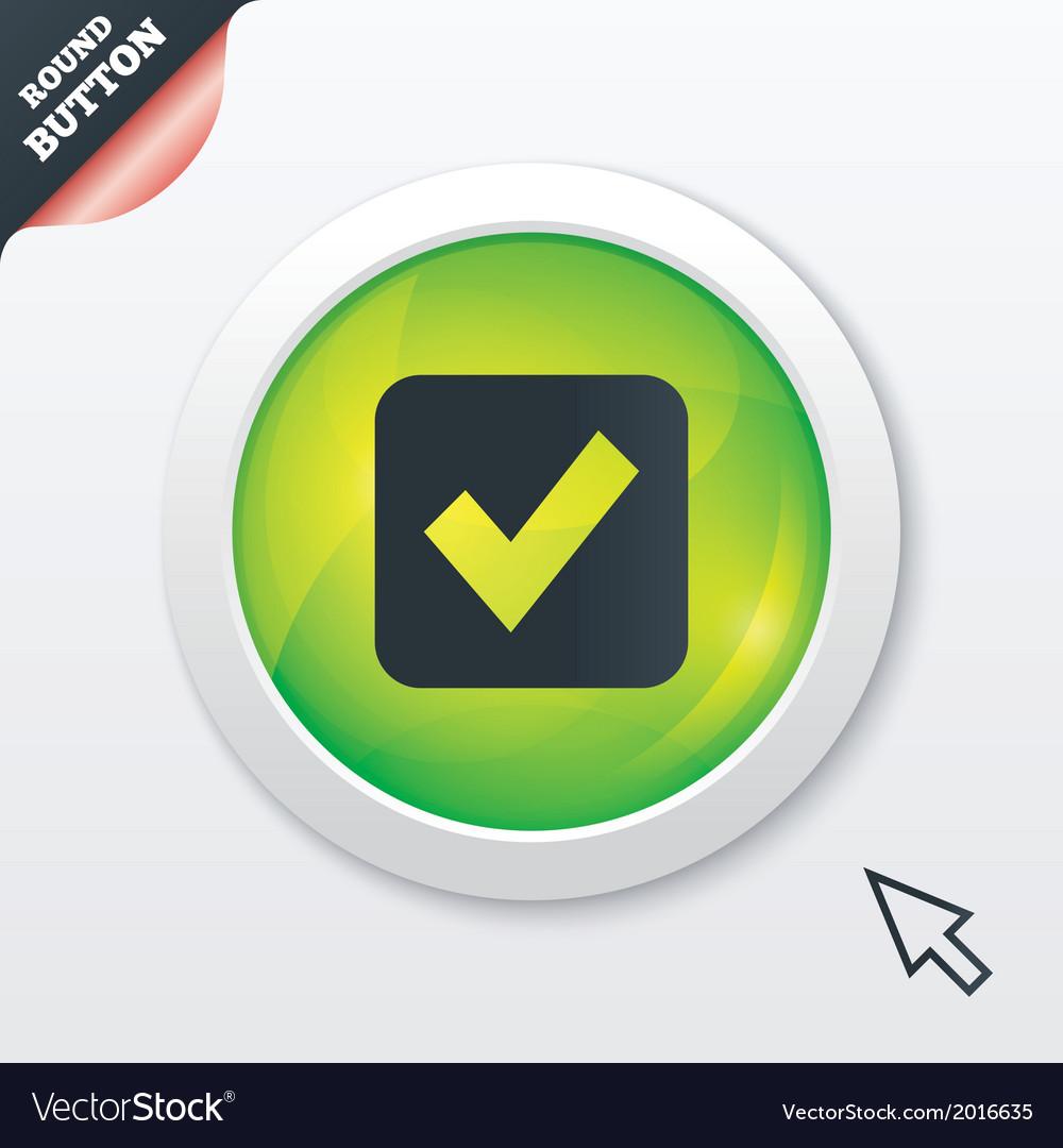 Check mark sign icon checkbox button vector | Price: 1 Credit (USD $1)