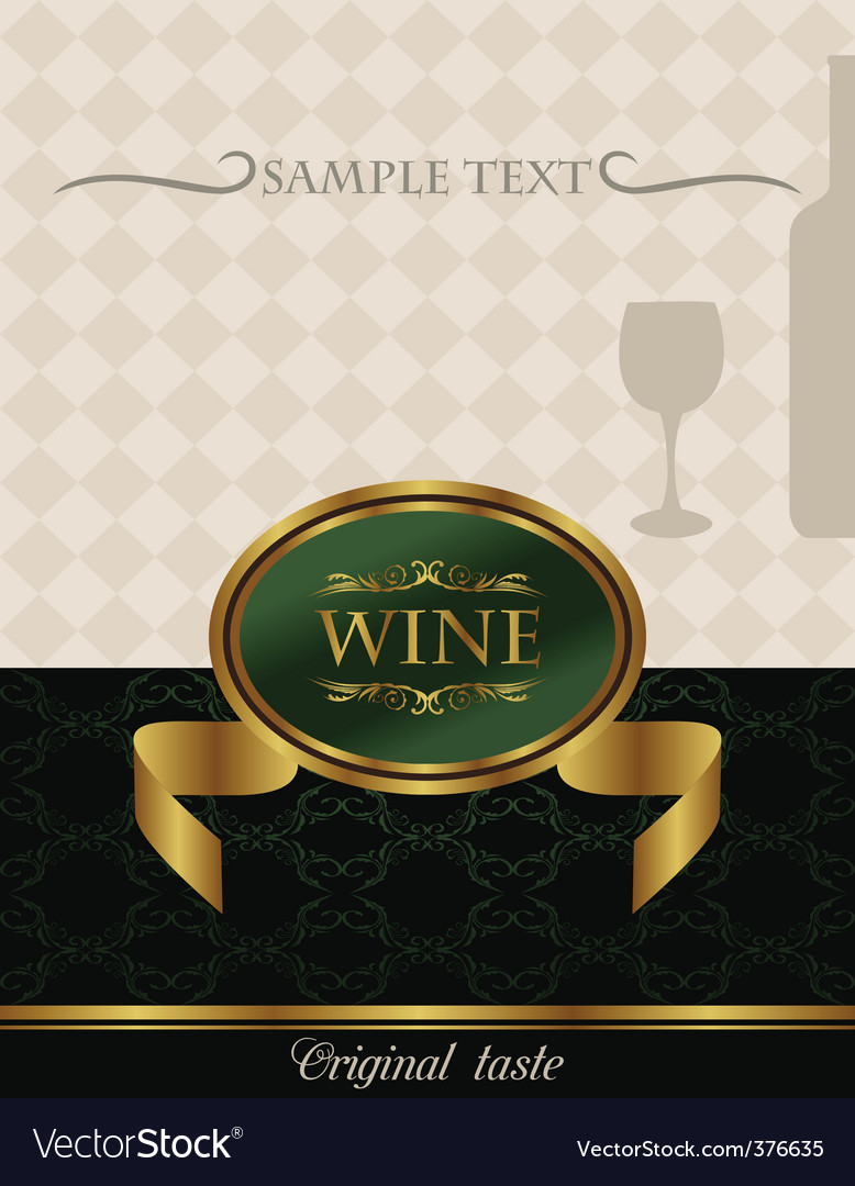 Gold wine label vector | Price: 1 Credit (USD $1)