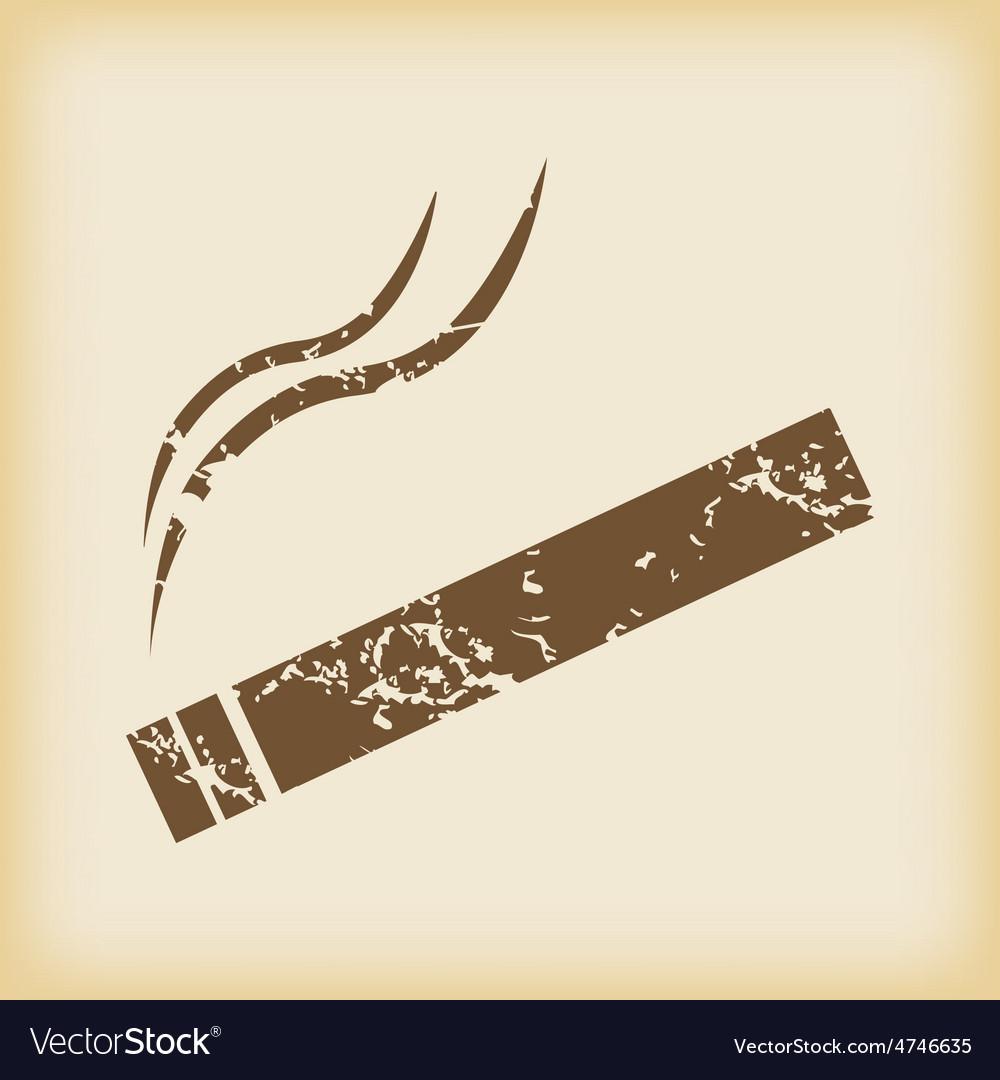 Grungy smoking icon vector | Price: 1 Credit (USD $1)