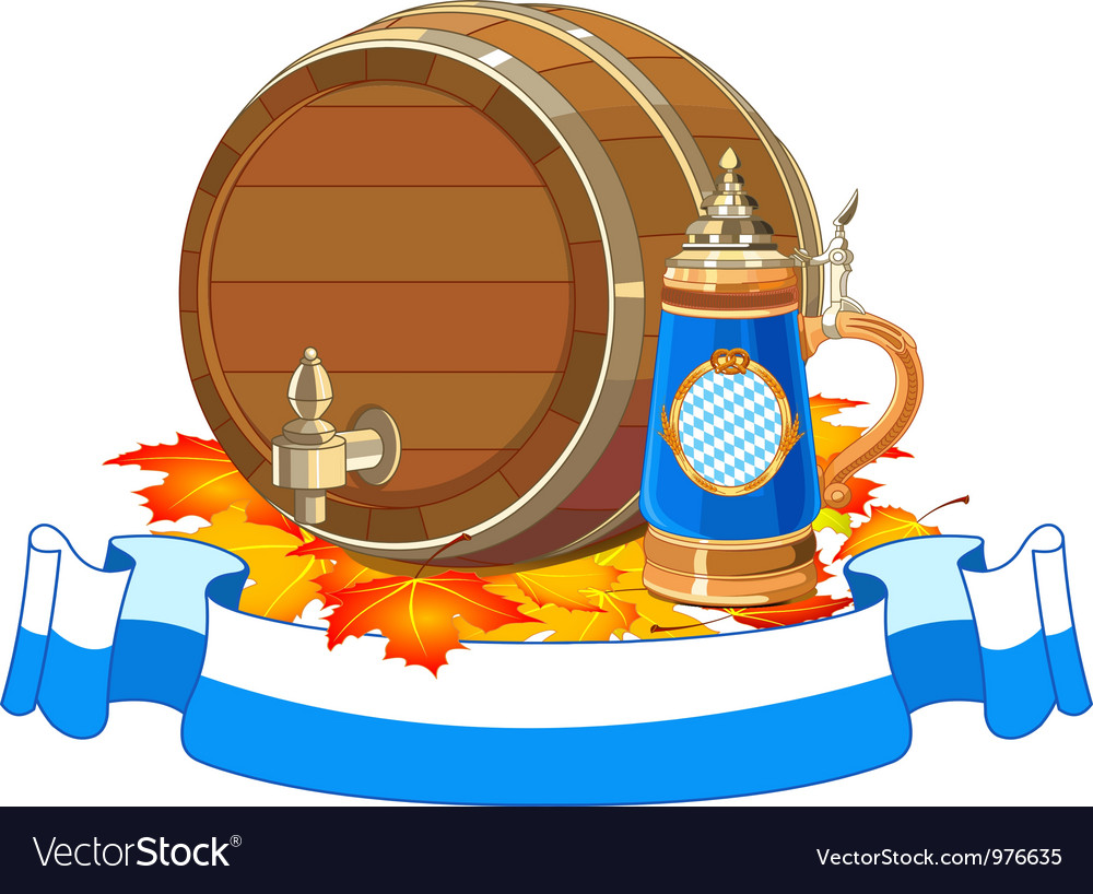Oktoberfest keg and mug vector | Price: 3 Credit (USD $3)