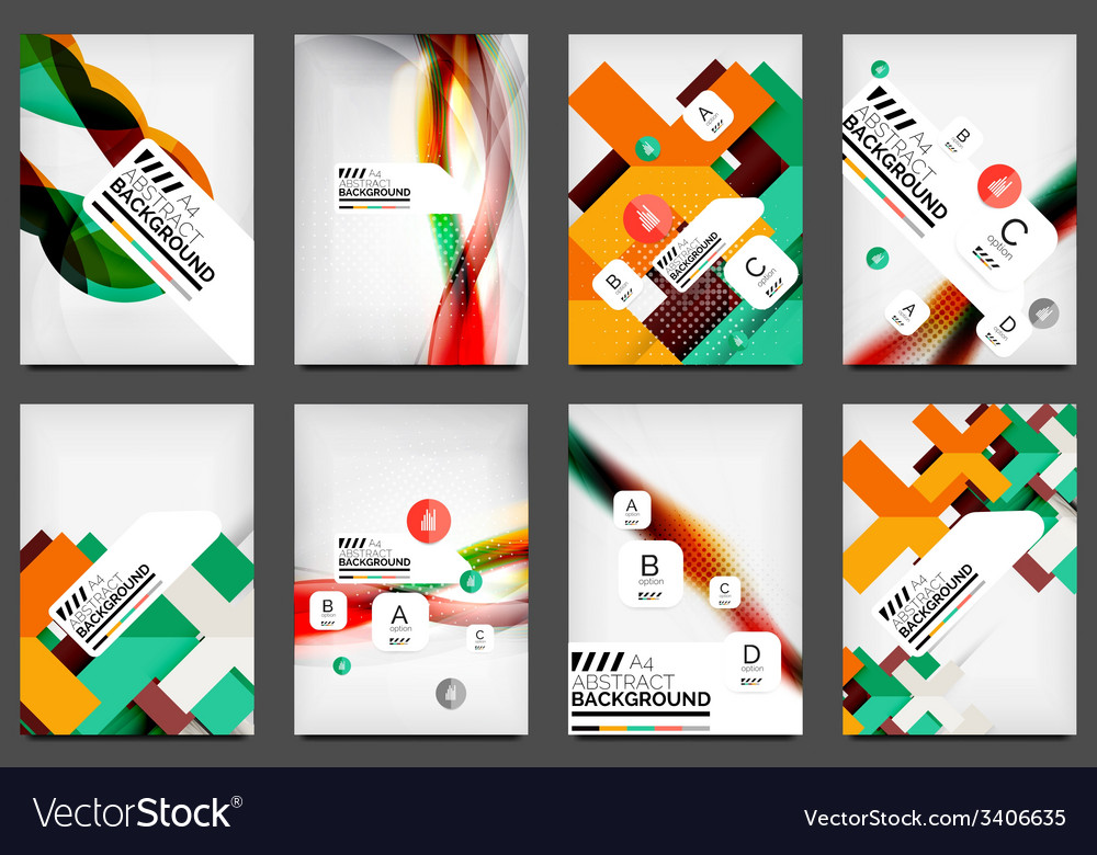 Set of flyer templates business web layouts vector | Price: 3 Credit (USD $3)