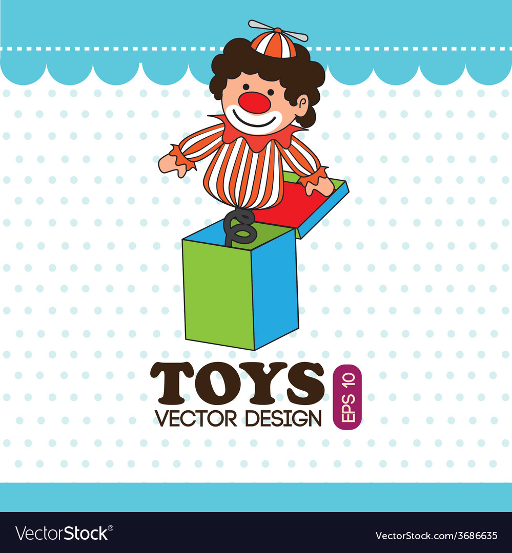 Toys design over white and blue background vector | Price: 1 Credit (USD $1)