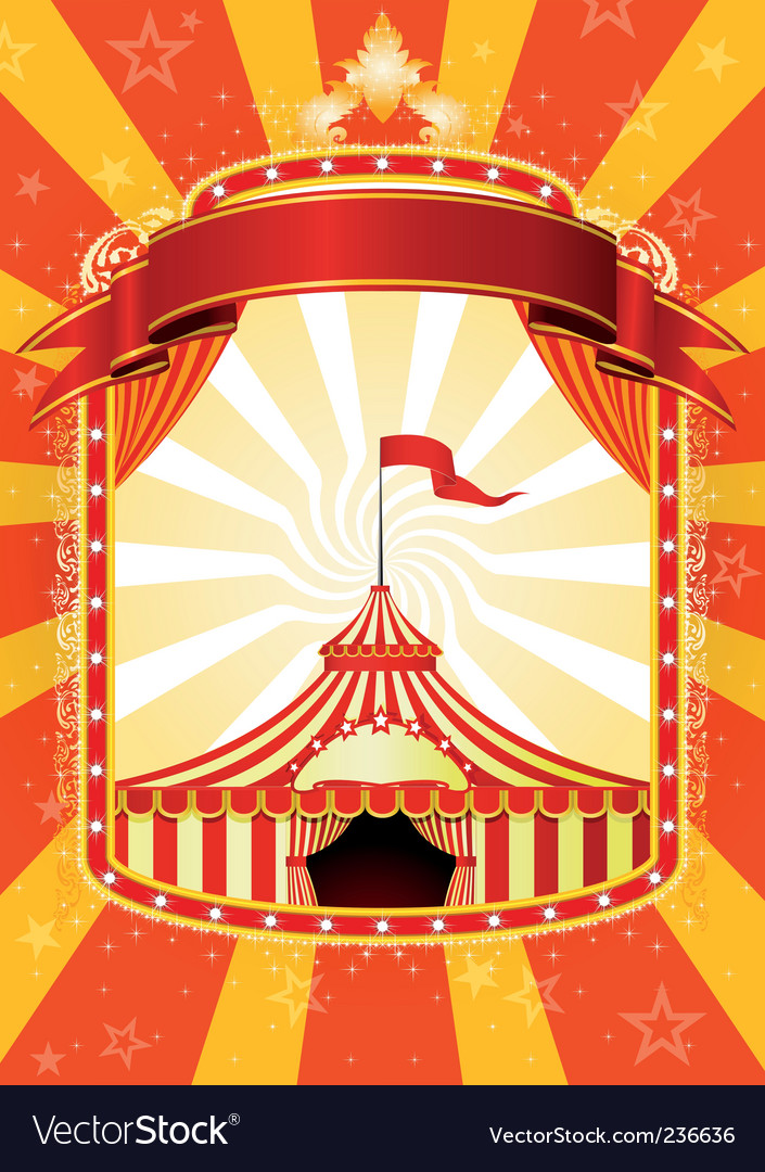 Circus poster vector | Price: 1 Credit (USD $1)