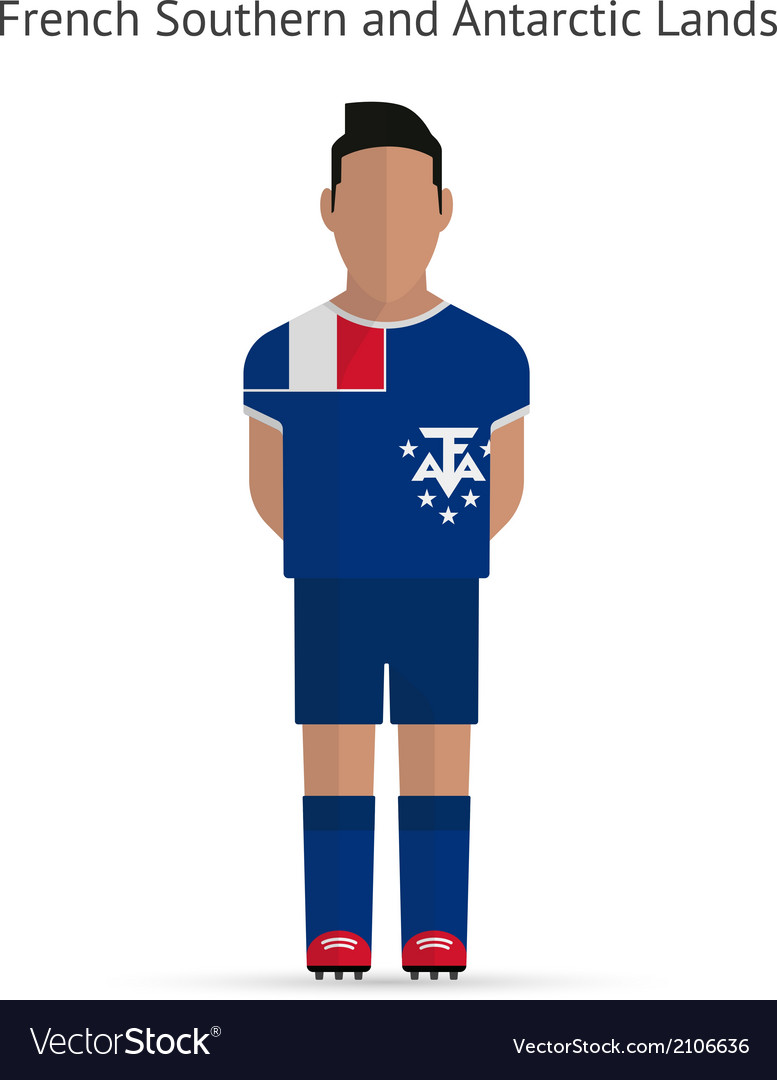 French southern and antarctic lands football vector | Price: 1 Credit (USD $1)