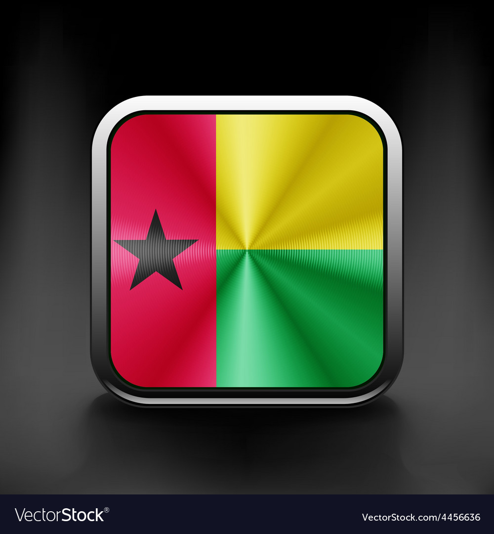 Guinea-bissau icon flag national travel icon vector | Price: 1 Credit (USD $1)