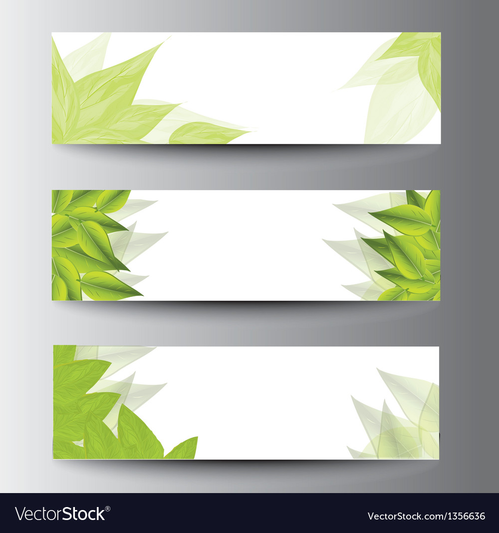 Leaf banners vector | Price: 1 Credit (USD $1)