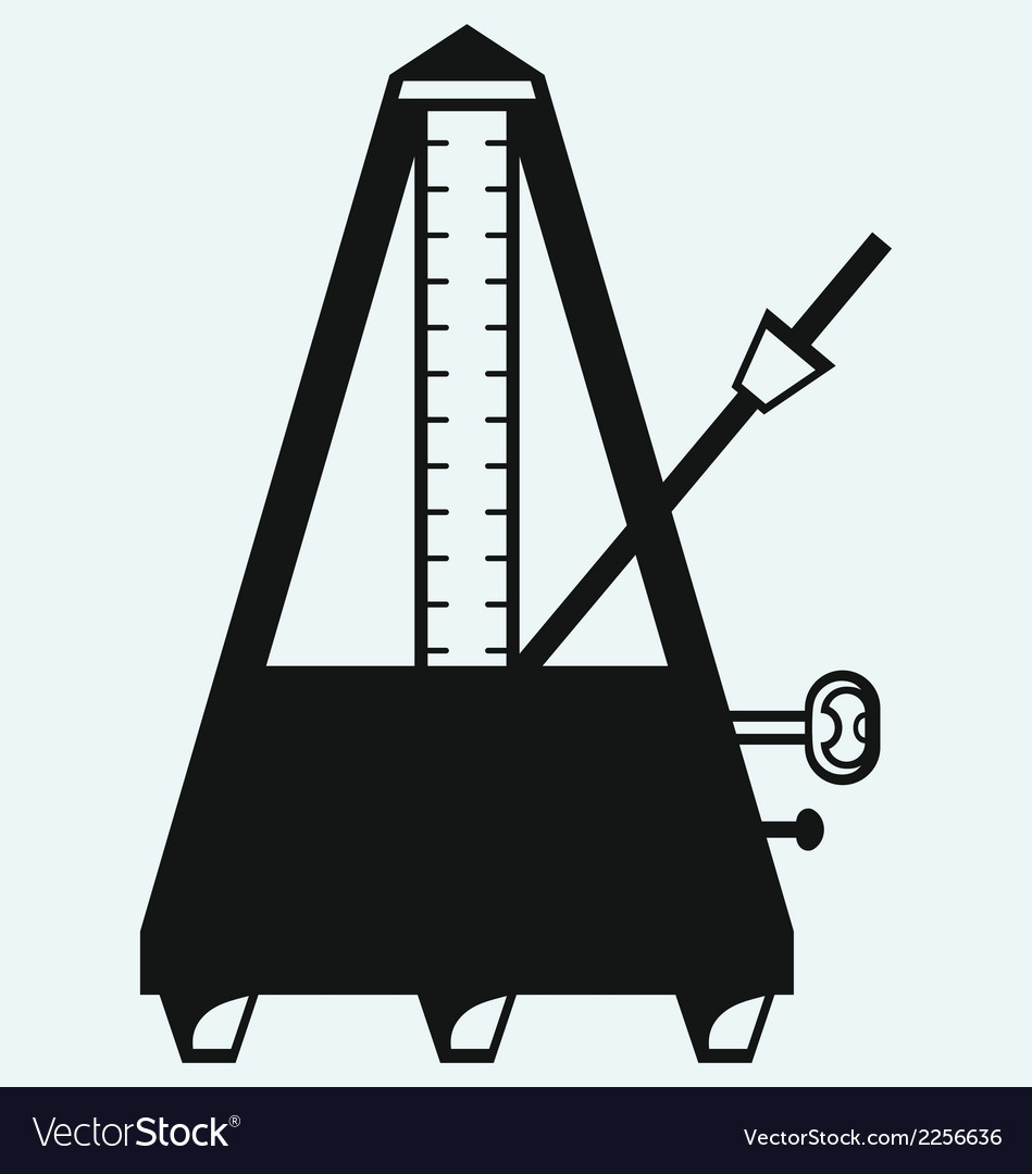 Musical metronome vector | Price: 1 Credit (USD $1)