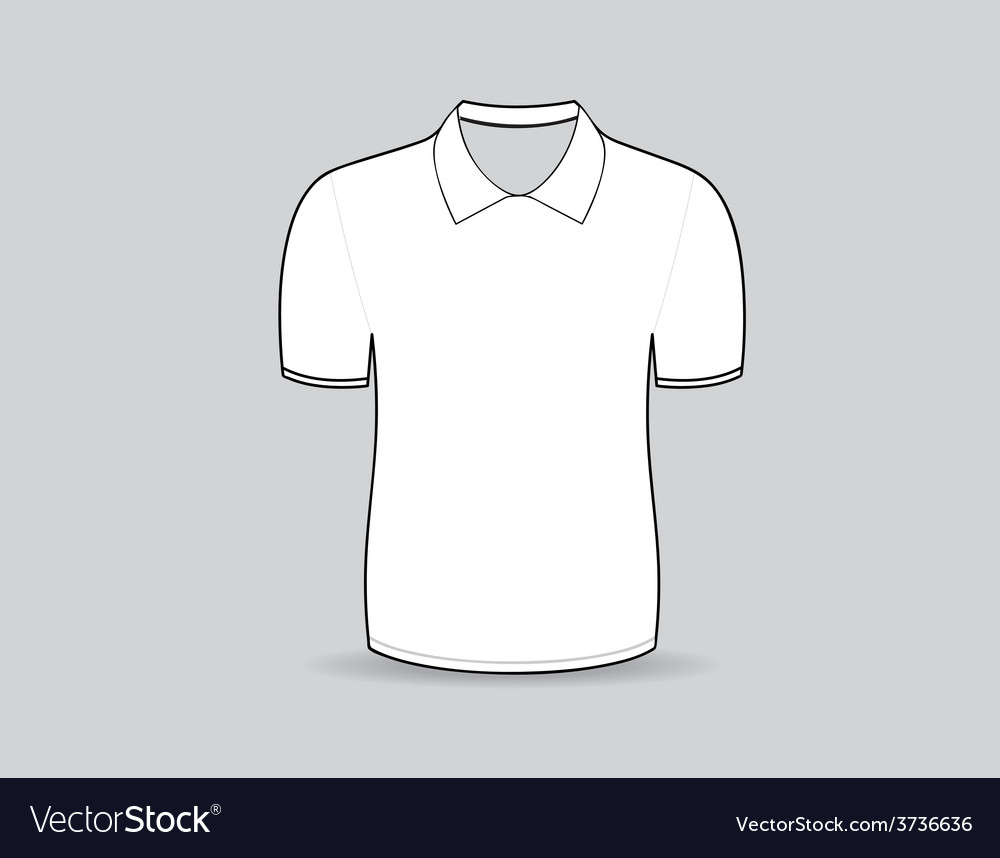 Polo shirt outline vector | Price: 1 Credit (USD $1)