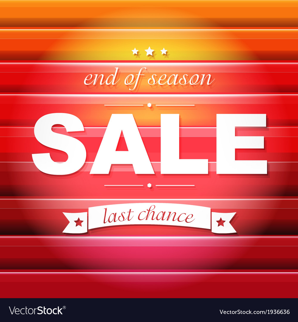 Red sale poster with text vector | Price: 1 Credit (USD $1)