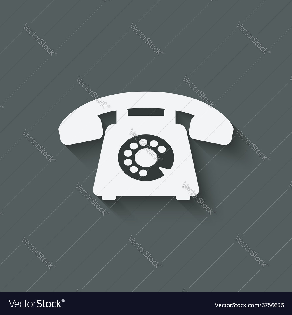 Retro phone symbol vector | Price: 1 Credit (USD $1)