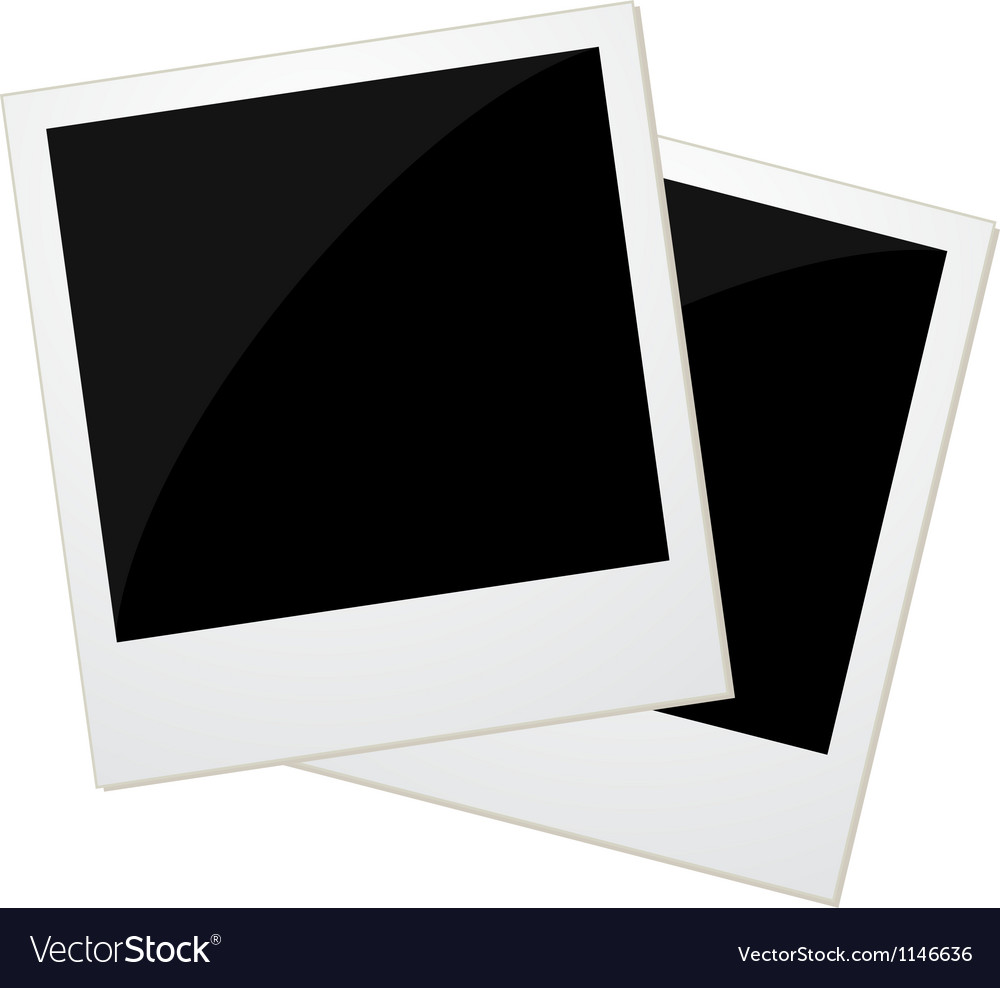 Two polaroid photos vector