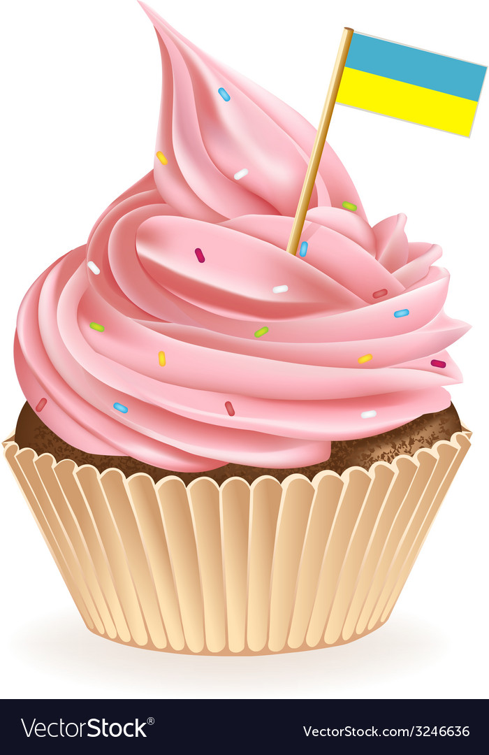 Ukranian cupcake vector | Price: 1 Credit (USD $1)