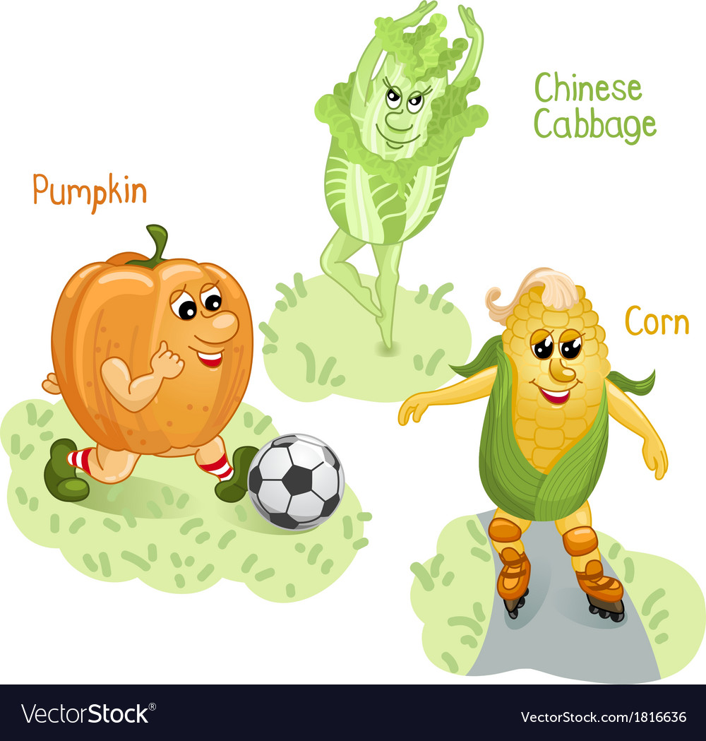 Vegetables engage in sports part 4 vector