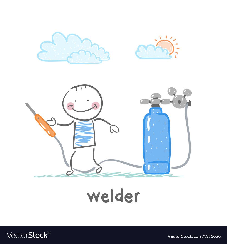 Welder welding machine near vector | Price: 1 Credit (USD $1)