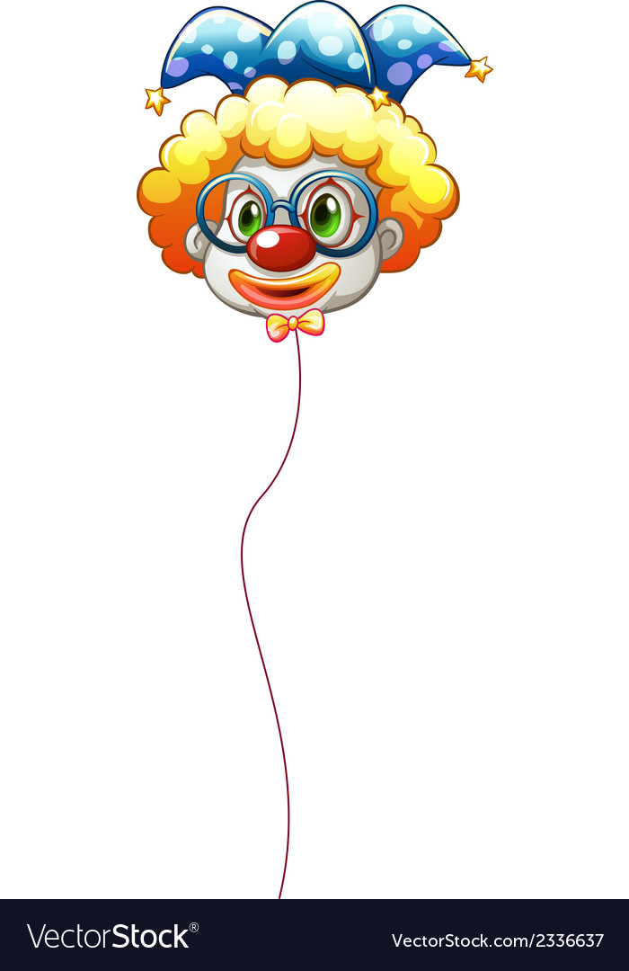 A clown balloon with an eyeglass vector | Price: 1 Credit (USD $1)