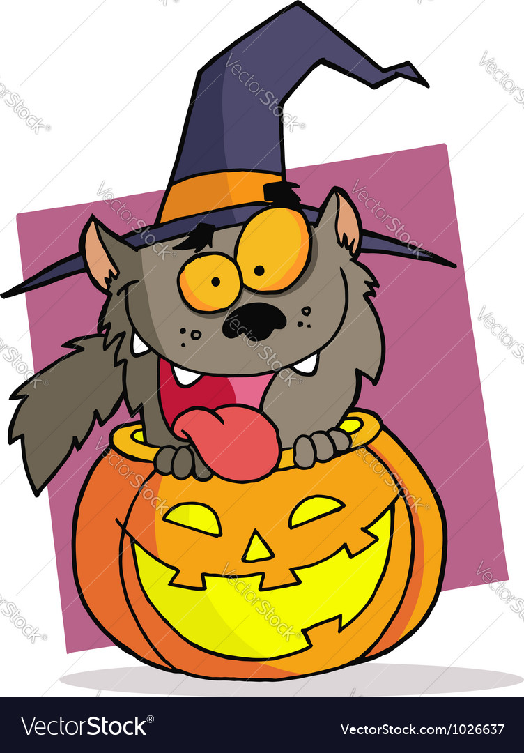 Cartoon character halloween werewolf vector | Price: 1 Credit (USD $1)