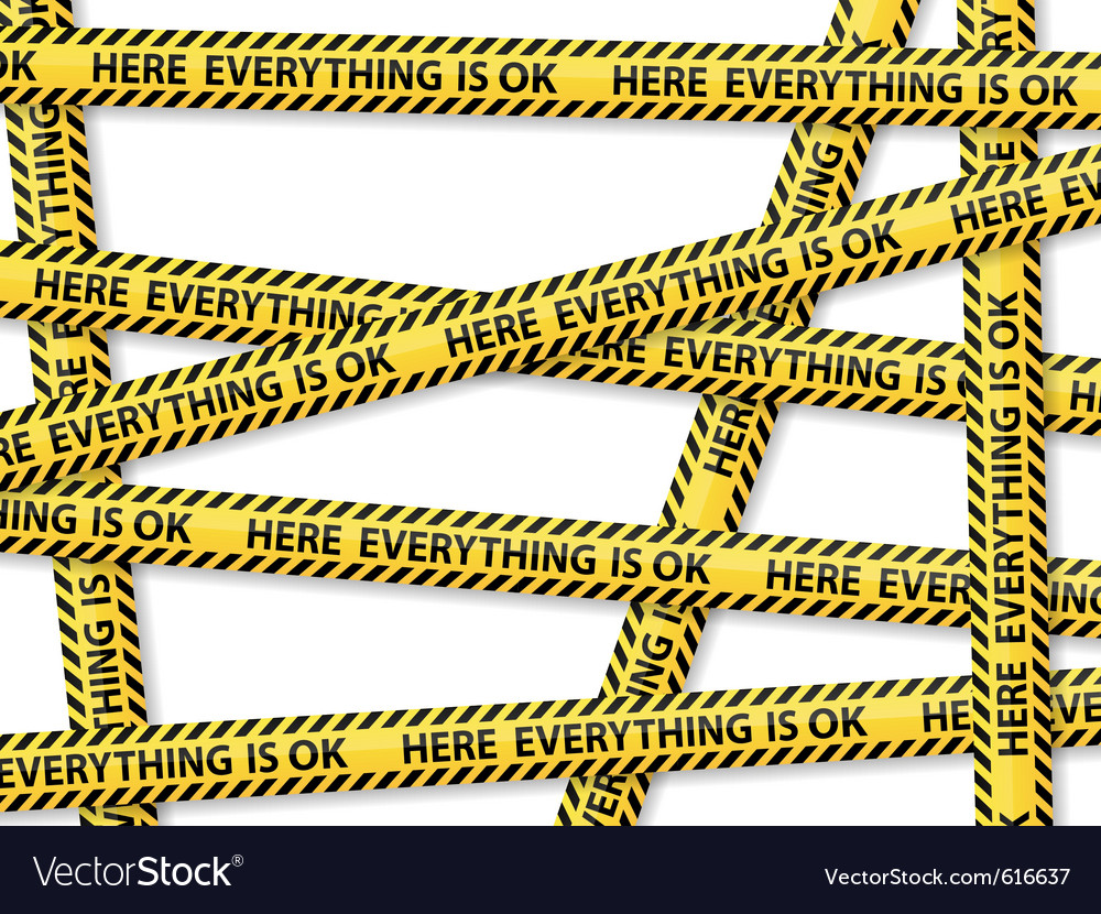 Caution tape concept vector | Price: 1 Credit (USD $1)