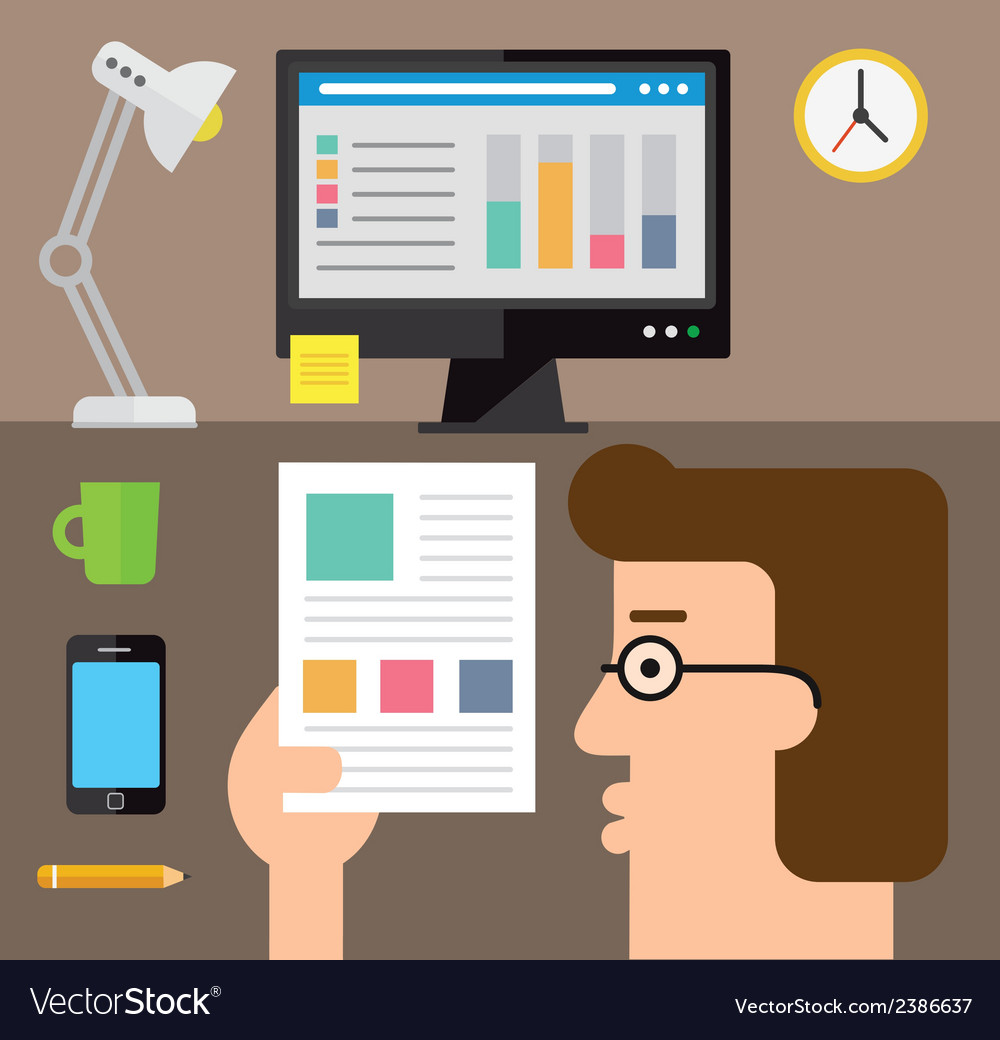 Checking the stats on paper vector | Price: 1 Credit (USD $1)