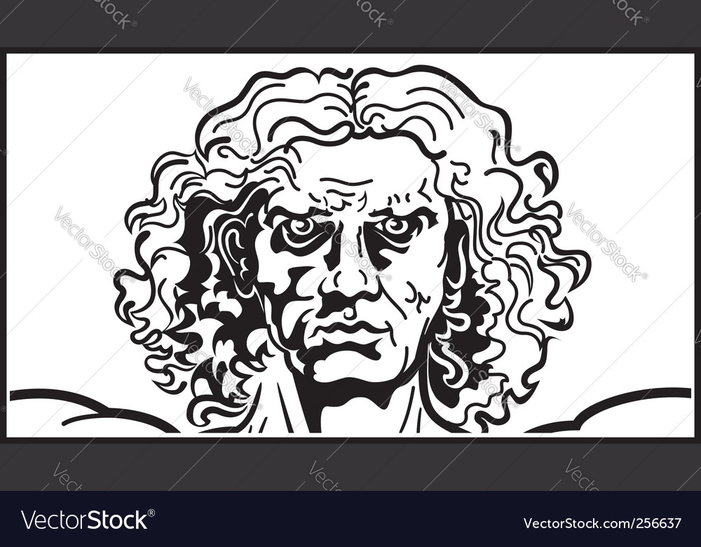 Head of the vitruvian man vector | Price: 1 Credit (USD $1)