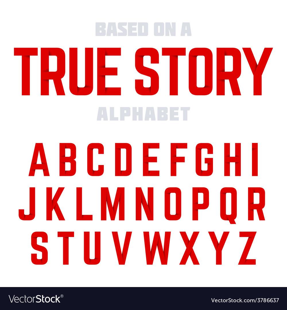 Modern alphabet vector | Price: 1 Credit (USD $1)