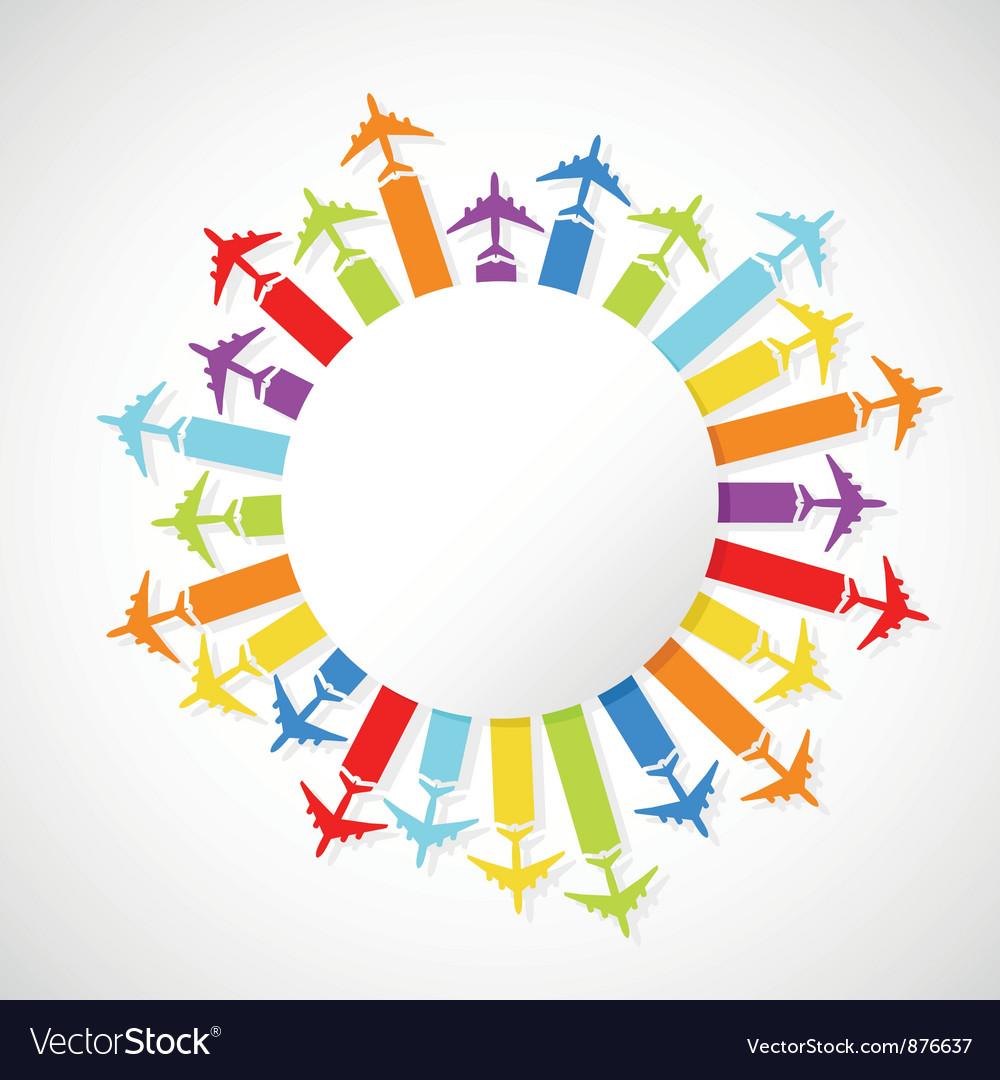 Rainbow airplanes vector   Price: 1 Credit (USD $1)