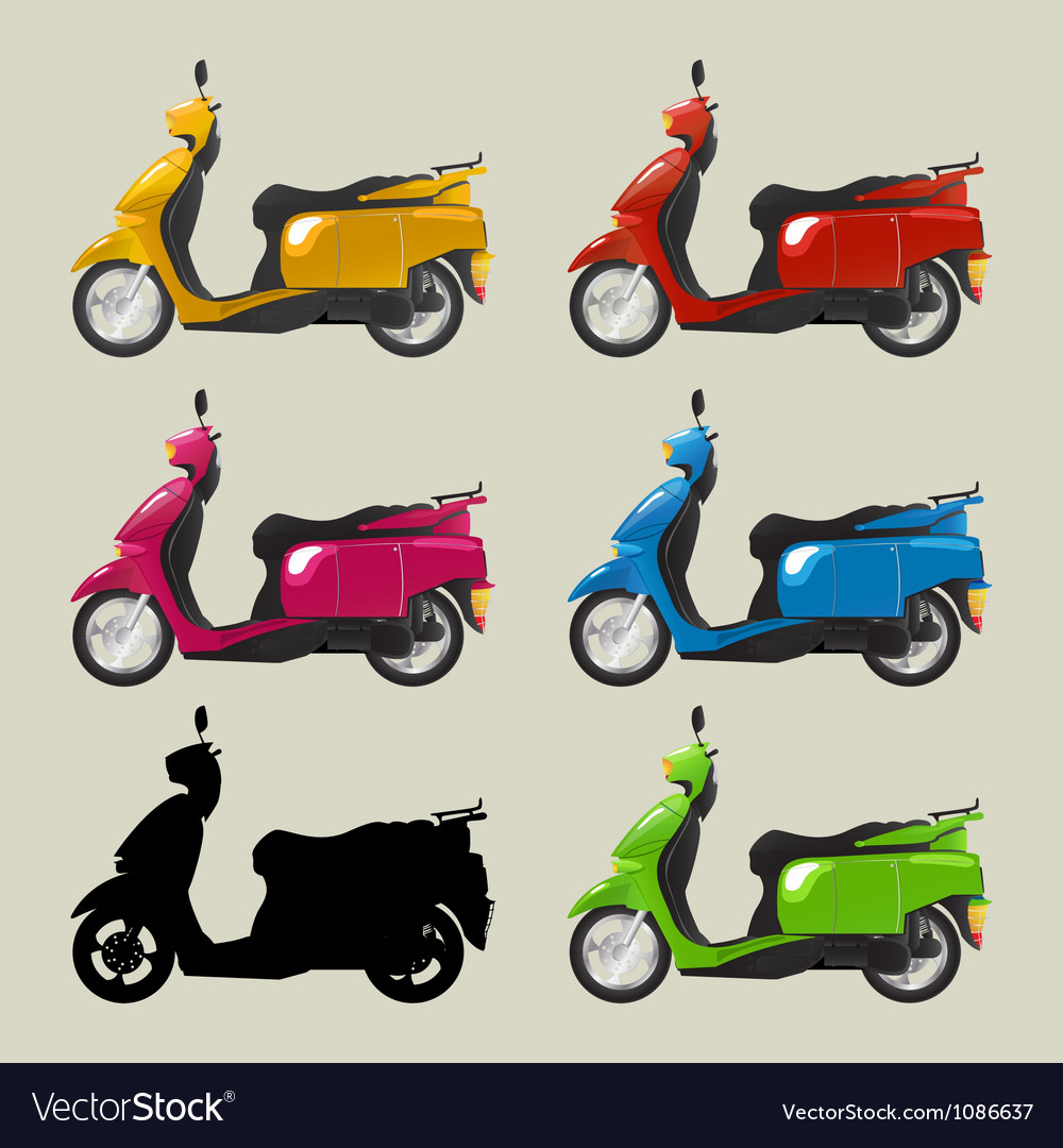Retro scooters vector | Price: 1 Credit (USD $1)