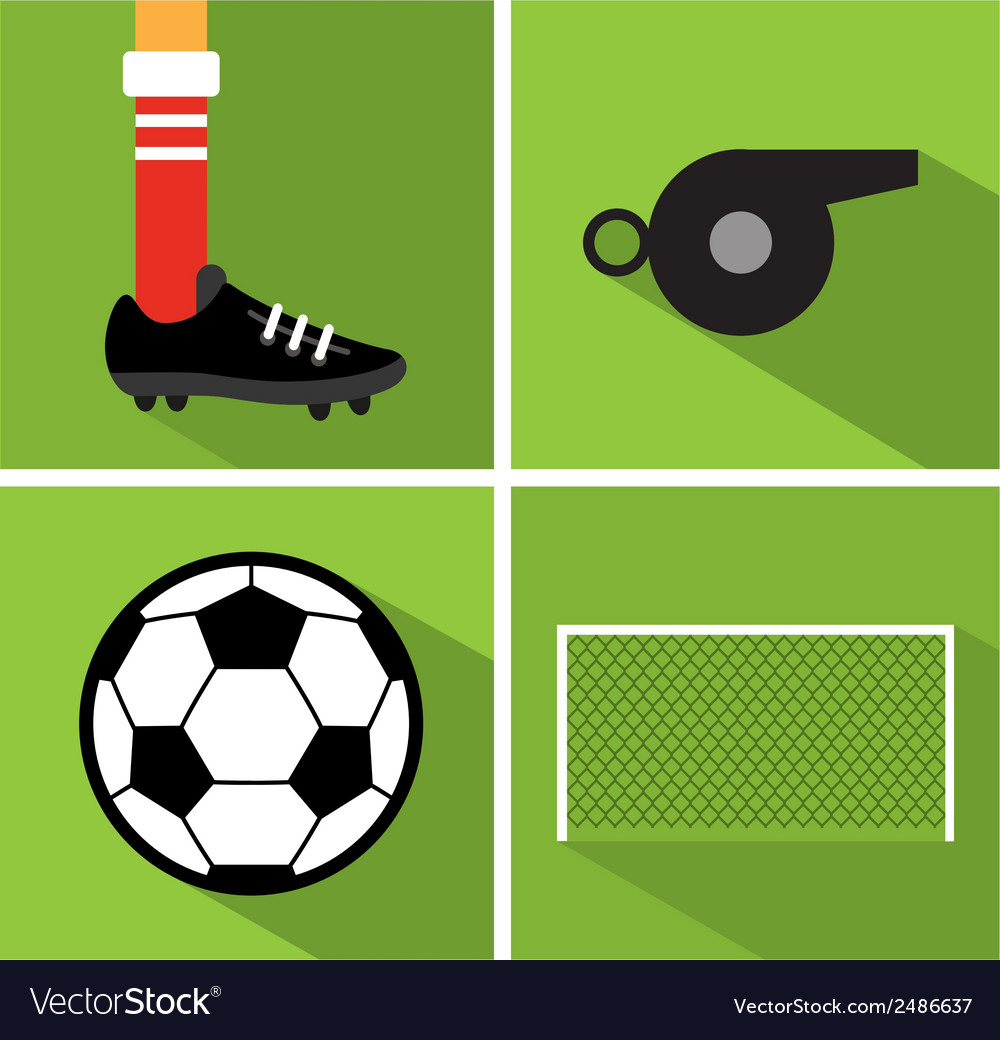 Soccer icon set ii vector | Price: 1 Credit (USD $1)