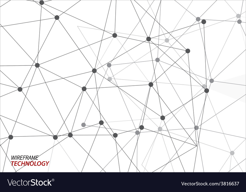 Wire frame technology background vector | Price: 1 Credit (USD $1)