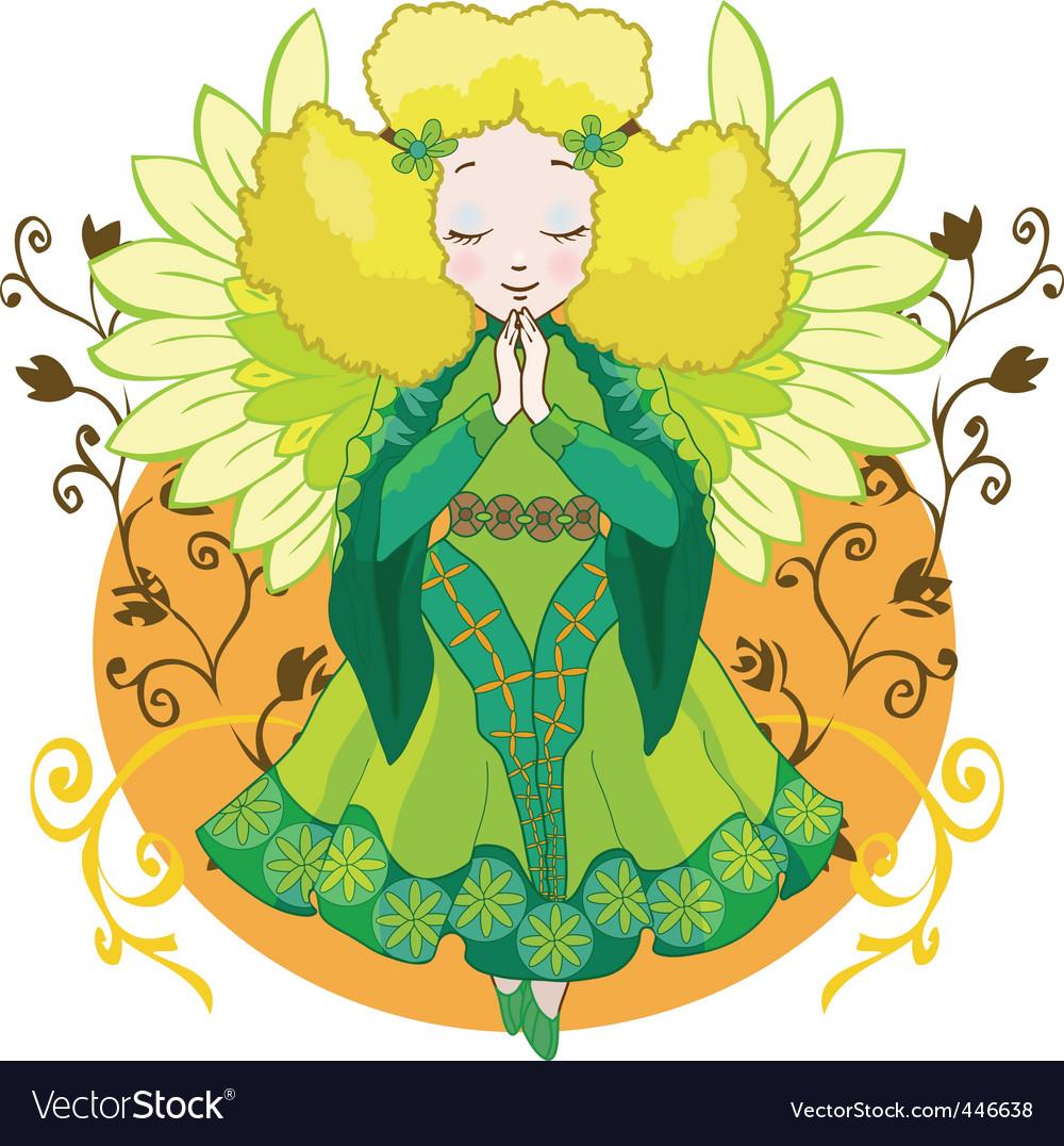 Cartoon angel vector | Price: 1 Credit (USD $1)